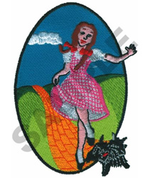 DOROTHY & TOTO WIZARD OF OZ embroidery design