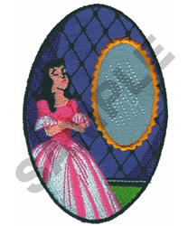 MIRROR MIRROR ON THE WALL WHOS... embroidery design