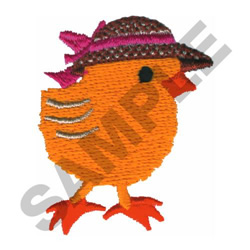 CHICK WITH HAT embroidery design