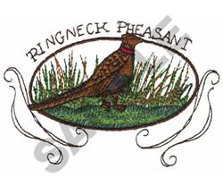 RINGNECK PHEASANT embroidery design