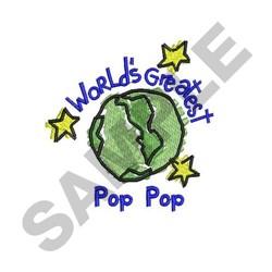 Worlds Greatest Pop Pop embroidery design