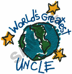 WORLDS GREATEST UNCLE embroidery design