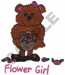 FLOWER GIRL TEDDY BEAR embroidery design