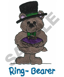 RING BEARER TEDDY embroidery design