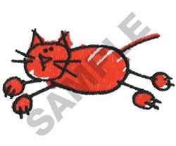 STICK CAT embroidery design