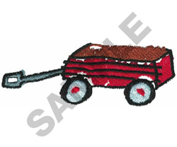 LIL RED WAGON embroidery design