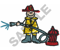 FIREMAN embroidery design
