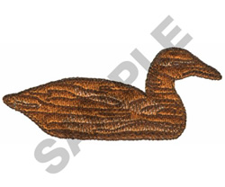 WOODEN DUCK embroidery design