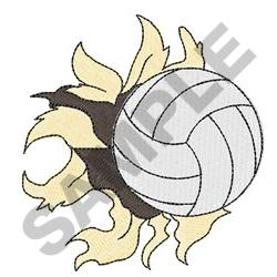 RIPPING VOLLEYBALL embroidery design