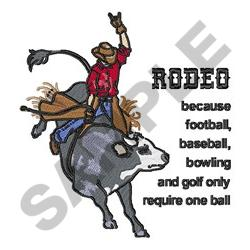 RODEO REQUIRES TWO embroidery design