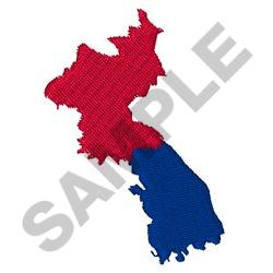NORTH AND SOUTH KOREA embroidery design
