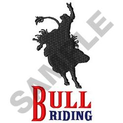 BULL RIDING embroidery design