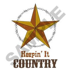 KEEPIN IT COUNTRY embroidery design