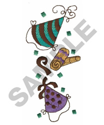 PARTY HATS AND HORNS embroidery design