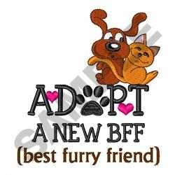 ADOPT A NEW BFF embroidery design