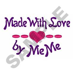 WITH LOVE BY MEME embroidery design