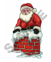 DOWN THE CHIMNEY embroidery design