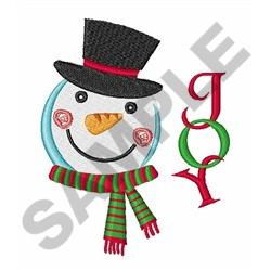 SNOWMAN JOY embroidery design
