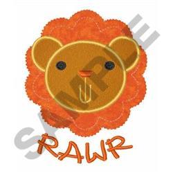 RAWR APPLIQUE embroidery design