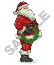 SANTA embroidery design