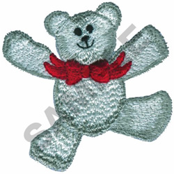 TEDDY BEAR WITH BOW TIE embroidery design