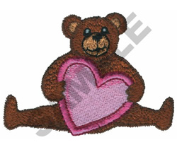 TEDDY BEAR WITH A BIG HEART embroidery design