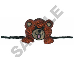 TEDDY BEAR POCKET TOPPER embroidery design
