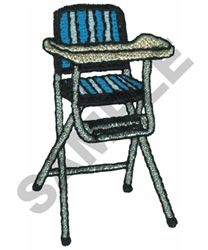 HIGH CHAIR embroidery design