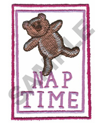 FRAMED NAP TIME BEAR embroidery design
