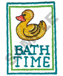 FRAMED BATH TIME DUCK embroidery design