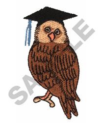 GRADUATE OWL embroidery design