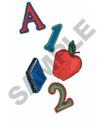 APPLE, BOOK A & 1,2 embroidery design