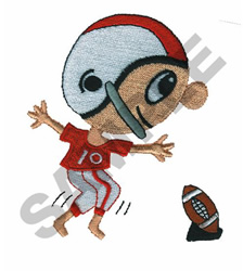 BOY PLAYING FOOTBALL embroidery design