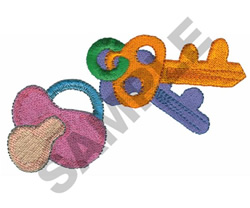 BABY KEYS & PACIFIER embroidery design