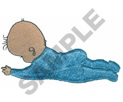 BABY LYING DOWN embroidery design