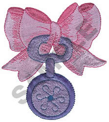 BABY TOY WITH RIBBON embroidery design