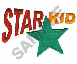 STAR KID embroidery design