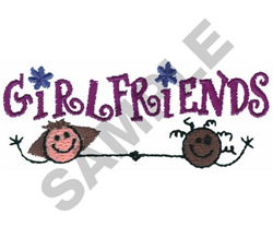 GIRLFRIENDS BORDER embroidery design