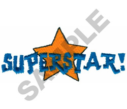 SUPERSTAR! embroidery design