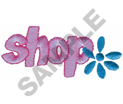 SHOP FLOWER embroidery design