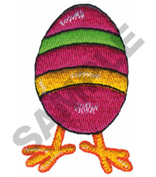EASTER EGG WITH FEET embroidery design