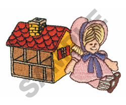 DOLL & DOLL HOUSE embroidery design