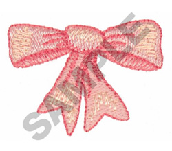 BOW embroidery design