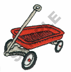 RED WAGON embroidery design