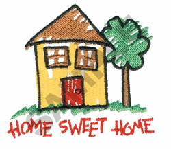 HOME SWEET HOME HOUSE embroidery design