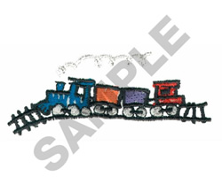 TRAIN SET embroidery design