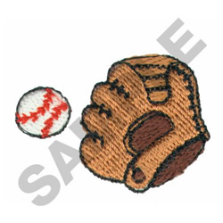 BASEBALL GLOVE AND BALL embroidery design