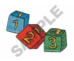 123 BLOCKS embroidery design