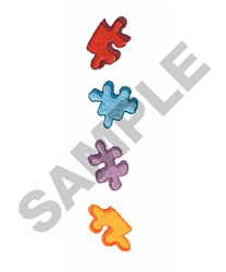 PUZZLE PIECES embroidery design