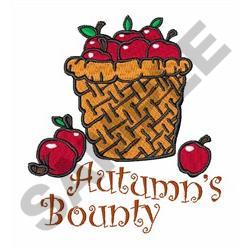 AUTUMNS BOUNTY embroidery design
